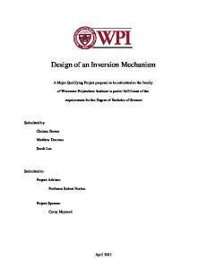 Design of an Inversion Mechanism