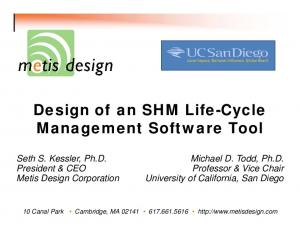 Design of an SHM Life-Cycle Management Software Tool