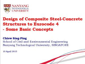 Design of Composite Steel-Concrete Structures to Eurocode 4 - Some Basic Concepts
