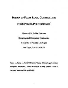 DESIGN OF FUZZY LOGIC CONTROLLERS