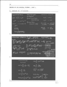 DESIGN OF IIR DIGITAL FILTERS - PART 1