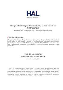 Design of Intelligent Conductivity Meter Based on MSP430F149