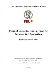 Design of Interactive User Interfaces for Advanced Web Applications