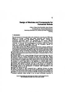 Design of Modules and Components for Humanoid Robots
