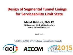 Design of Segmental Tunnel Linings for Serviceability Limit State