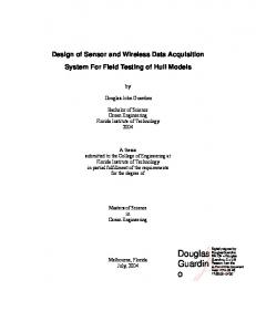 Design of Sensor and Wireless Data Acquisition System For Field Testing of Hull Models
