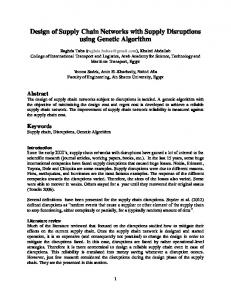 Design of Supply Chain Networks with Supply Disruptions using Genetic Algorithm