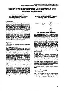 Design of Voltage Controlled Oscillator for 2.4 GHz Wireless Applications
