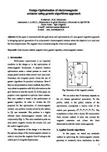Design Optimization of electromagnetic actuator using genetic algorithms approach