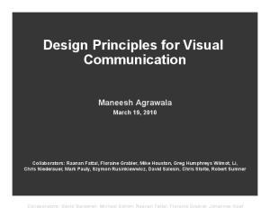 Design Principles for Visual Communication