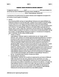 DESIGN PROFESSIONAL SERVICES AGREEMENT