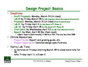 Design Project Basics