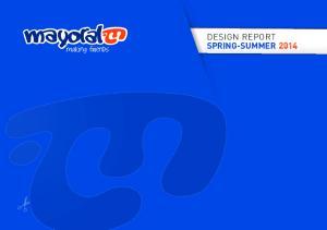 DESIGN REPORT SPRING-SUMMER