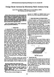 Design Smart Antenna by Microstrip Patch Antenna Array