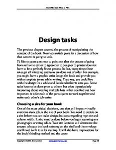 Design tasks. Choosing a size for your book
