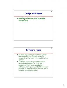 Design with Reuse. Software reuse