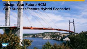 Design Your Future HCM SAP SuccessFactors Hybrid Scenarios