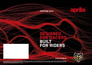 DESIGNED FOR RACERS BUILT FOR RIDERS