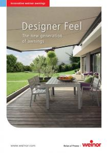 Designer Feel The new generation of awnings
