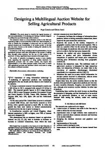 Designing a Multilingual Auction Website for Selling Agricultural Products
