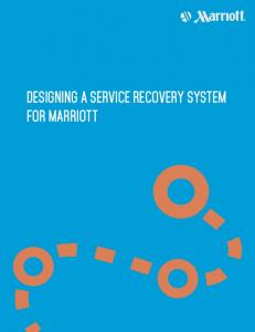 DESIGNING A SERVICE RECOVERY SYSTEM FOR MARRIOTT
