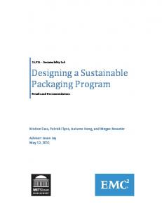 Designing a Sustainable Packaging Program