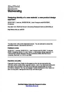 Designing identity of a new material: a new product design approach