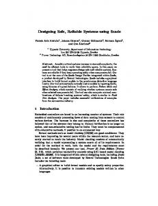 Designing Safe, Reliable Systems using Scade