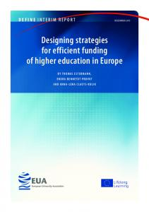 Designing strategies for efficient funding of higher education in Europe