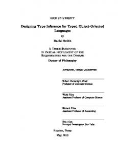 Designing Type Inference for Typed Object-Oriented Languages