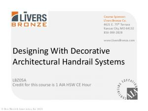 Designing With Decorative Architectural Handrail Systems