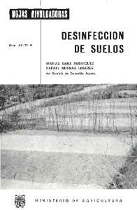 DESINFECCION DE SUELOS