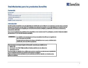 Desinfectantes para los productos SonoSite