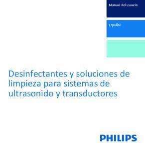 Desinfectantes y soluciones de limpieza para sistemas de ultrasonido y transductores