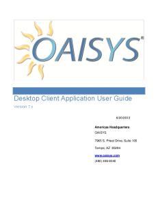 Desktop Client Application User Guide