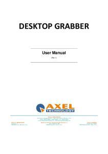 DESKTOP GRABBER User Manual