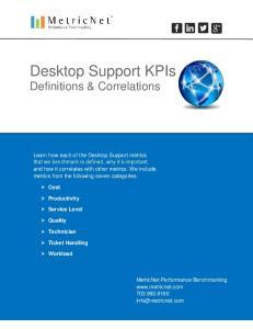 Desktop Support KPIs Definitions & Correlations
