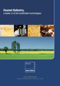 Desmet Ballestra, a leader in oil fat modification technologies