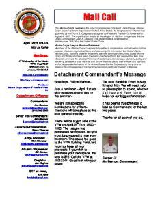 Detachment Commandant s Message