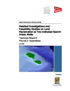 Detailed Investigations and Feasibility Studies on Land Reclamation at Two Indicated Search Areas, Malta