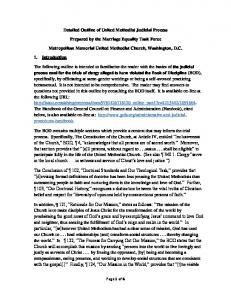 Detailed Outline of United Methodist Judicial Process. Prepared by the Marriage Equality Task Force