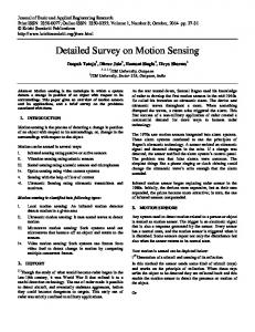 Detailed Survey on Motion Sensing