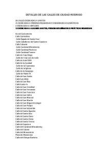 DETALLES DE LAS CALLES DE CIUDAD RODRIGO