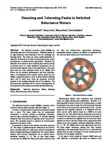 Detecting and Tolerating Faults in Switched Reluctance Motors