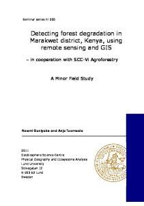 Detecting forest degradation in Marakwet district, Kenya, using remote sensing and GIS
