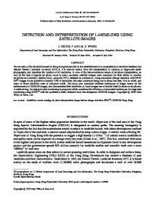 DETECTION AND INTERPRETATION OF LANDSLIDES USING SATELLITE IMAGES