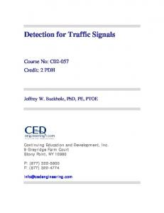 Detection for Traffic Signals