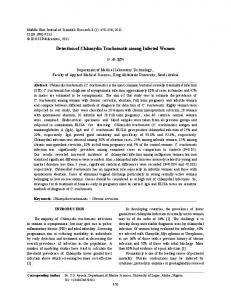 Detection of Chlamydia Trachomatis among Infected Women