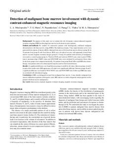 Detection of malignant bone marrow involvement with dynamic contrast-enhanced magnetic resonance imaging