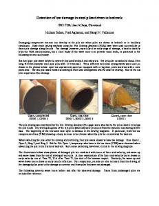 Detection of toe damage in steel piles driven to bedrock
